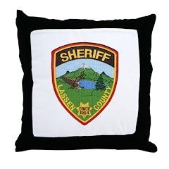 Lassen County Sheriff Throw Pillow