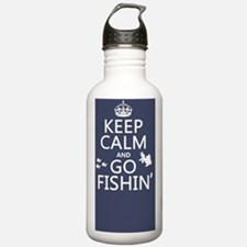 Keep Calm and Go Fishi Sports Water Bottle