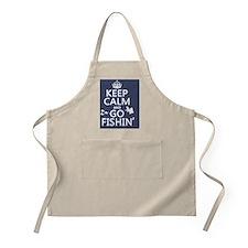 Keep Calm and Go Fishin' Apron