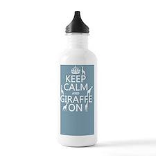 Keep Calm and Giraffe  Water Bottle