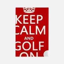Keep Calm and Golf On Rectangle Magnet