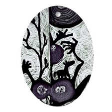 shadow puppetry Oval Ornament
