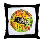 Snapping Turtle products Throw Pillow
