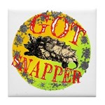Snapping Turtle products Tile Coaster