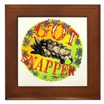 Snapping Turtle products Framed Tile