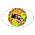 Snapping Turtle products Oval Sticker