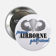 Proud Airborne Girlfriend Button