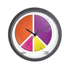 Peace Pie Chart Wall Clock
