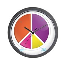 Peace Pie Chart for DARK Wall Clock