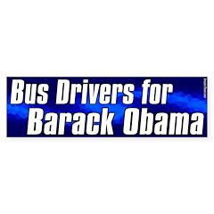 Bus Drivers for Barack Obama sticker