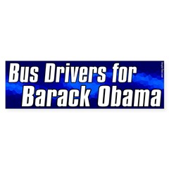 Bus Drivers for Barack Obama sticker