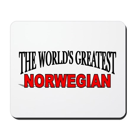"""The World's Greatest Norwegian"" Mousepad"