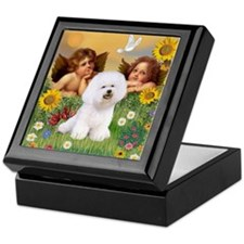 Angels/Bichon Frise Keepsake Box