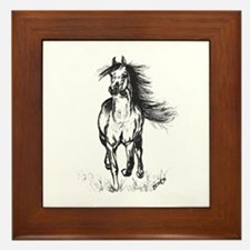 Runner Arabian Horse Framed Tile