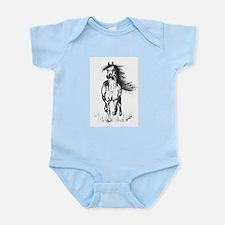 Runner Arabian Horse Infant Bodysuit