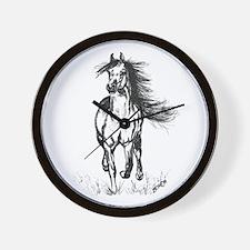 Runner Arabian Horse Wall Clock