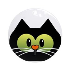 Im a Cat rescuer and I love it new  Round Ornament