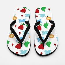 Garden Pattern Flip Flops