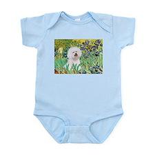 Irises and Bichon Infant Bodysuit