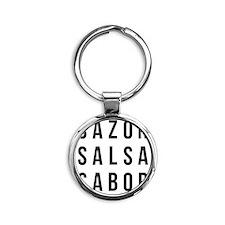 Sazon Salsa Sabor Round Keychain