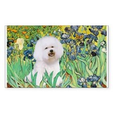 Irises and Bichon Decal