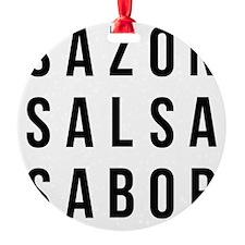 Sazon Salsa Sabor Ornament