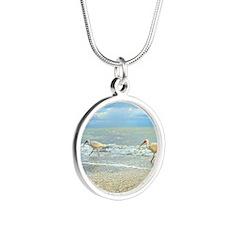 Sanibel Ibis Birds Strut The Silver Round Necklace