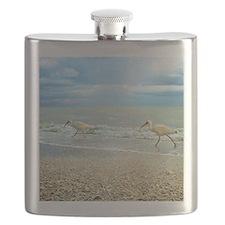 Sanibel Ibis Birds Strut Their stuff Flask