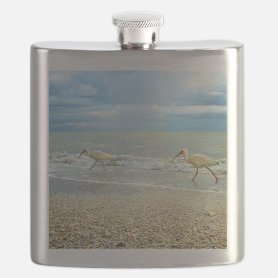 Sanibel Ibis Birds Strut Their stuff Flask