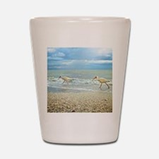 Sanibel Ibis Birds Strut Their stuff Shot Glass