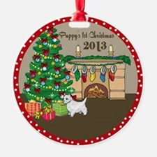 2013 Westie 1St Christmas Ornament
