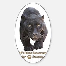 Black Jaguar Sticker (Oval)