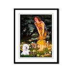 Fairies & Bichon Framed Panel Print