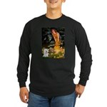 Fairies & Bichon Long Sleeve Dark T-Shirt