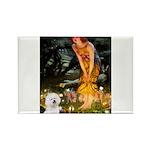 Fairies & Bichon Rectangle Magnet (10 pack)