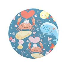 "Cute Sea Life 3.5"" Button"