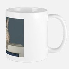 Bengal Snow Leopard Perched on Retro Co Mug