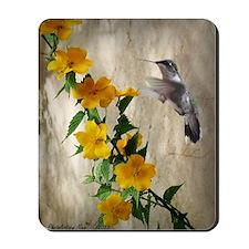 Hummingbird  flowers Mousepad