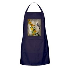 Hummingbird  flowers Apron (dark)