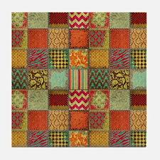 Crazy Quilt Tile Coaster