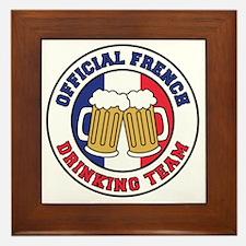Official French Drinking Team Framed Tile