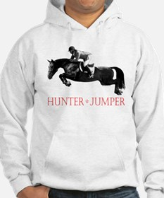Hunter, Jumper Horse In Red Hoodie