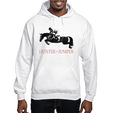 Hunter, Jumper Horse In Red Jumper Hoody