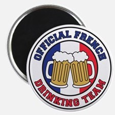 Official French Drinking Team Magnet