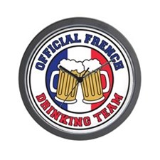 Official French Drinking Team Wall Clock
