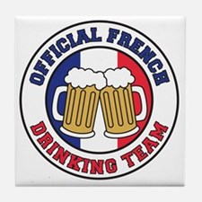 Official French Drinking Team Tile Coaster