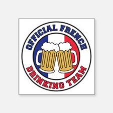 "Official French Drinking Te Square Sticker 3"" x 3"""