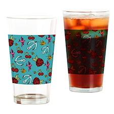 Tattoos Drinking Glass