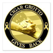 "Cigar grotto Square Car Magnet 3"" x 3"""