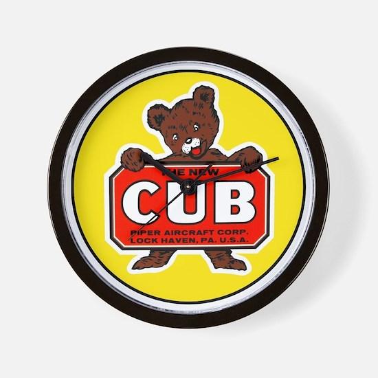 Piper Cub Wall Clock